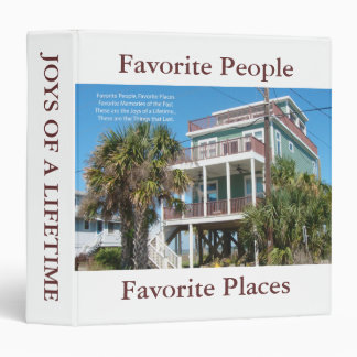 Favorite Places, Favorite People, Favorite Places 3 Ring Binder