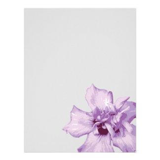 """Favorite Purple Flower 8.5"""" X 11"""" Paper"""