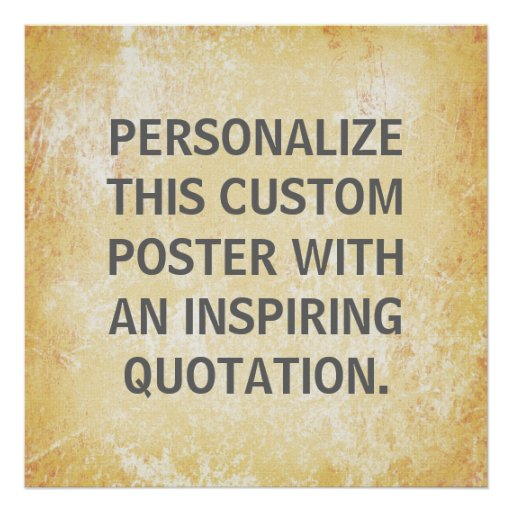 Favorite Quote Poster, personalized custom