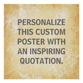 Favorite Quote Poster, personalized custom Poster