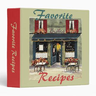 Favorite  Recipes- binder