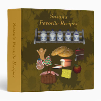 Favorite Recipes Cookies Cake Meals 3 Ring Binder