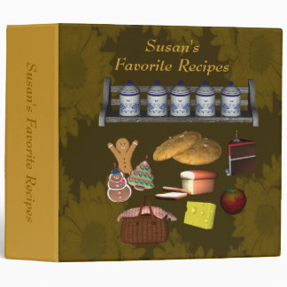 Favorite Recipes Cookies Cake Meals Binder