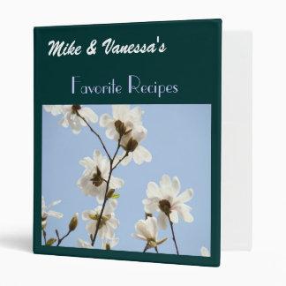 Favorite Recipes His & Her Name Magnolias Binder