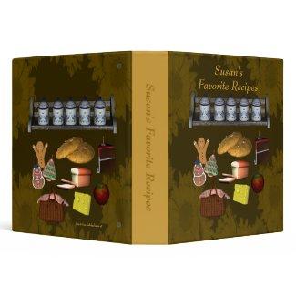 Favorite Recipes Personalized Custom Avery Binder binder