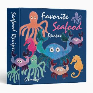 Favorite Seafood Recipes- notebook Binders