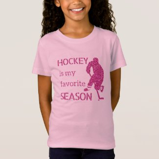 Favorite season - Pink sparkle hockey player T-Shirt