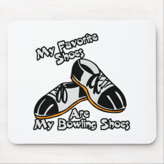 favorite shoes are bowling shoes mouse pad