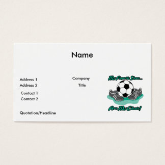 favorite shoes are my cleats soccer design business card