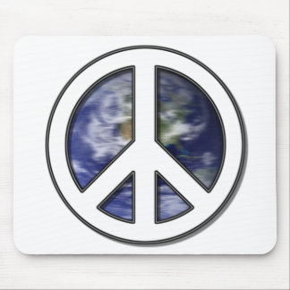 favorite Spinning Earth White Peace Sign 7 Mouse Pad