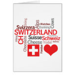 Favorite Swiss Things - I Love Switzerland Greeting Card