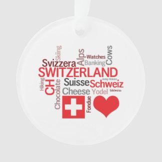 Favorite Swiss Things - I Love Switzerland Ornament