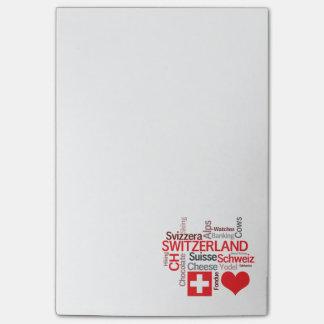 Favorite Swiss Things - I Love Switzerland Post-it® Notes