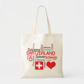 Favorite Swiss Things - I Love Switzerland Tote Bag