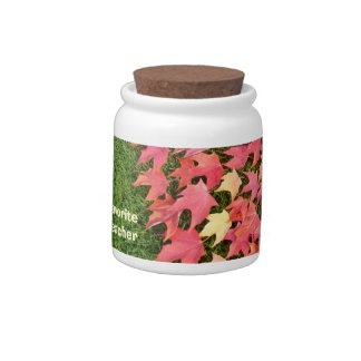 Favorite Teacher gifts Holiday Candy Jars Autumn