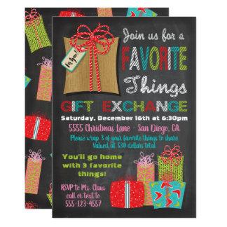 Favorite things Christmas Gift Exchange Card
