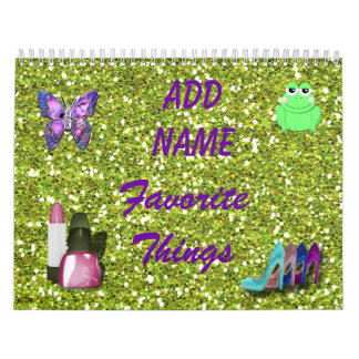 Favorite Things Personalized Calendar add name