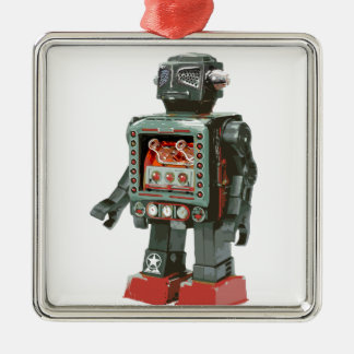 Favorite Toy Robot w Canons Metal Ornament