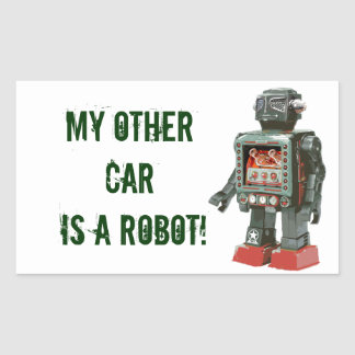 Favorite Toy Robot w Canons Stickers