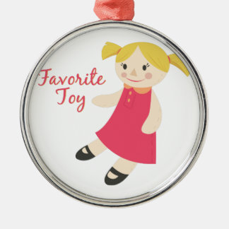 Favorite Toy Round Metal Christmas Ornament