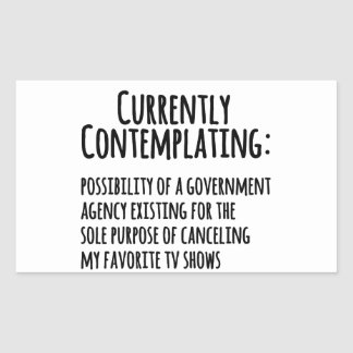 Favorite TV Shows Canceled by Govt. Stickers