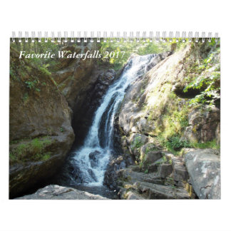 Favorite Waterfalls 2017 Calendar