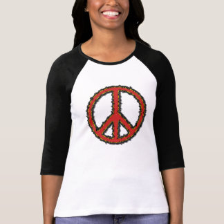 favorite ZigZag Red Zig Zag Peace Sign T Shirt