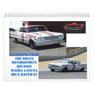 "Favorites from ""THE HISTORICS"" at Laguna Seca Wall Calendars"