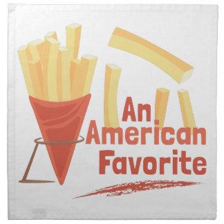 Favorito americano servilletas de papel