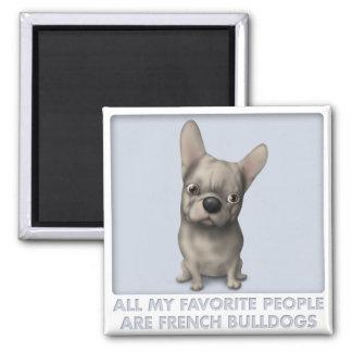 Favorito (de color de ante) del dogo francés imán cuadrado