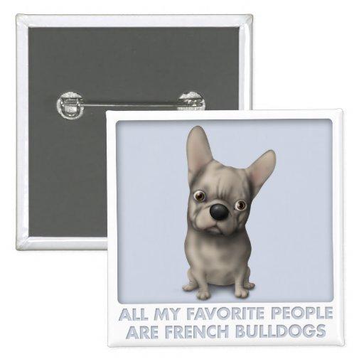 Favorito (de color de ante) del dogo francés pin