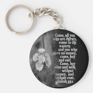 FAVORITO DE LA ESCRITURA DE LA BIBLIA DEL 55:1 DE  LLAVERO REDONDO TIPO PIN