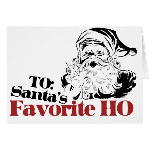Favorito de Navidad Santas HO Tarjeta
