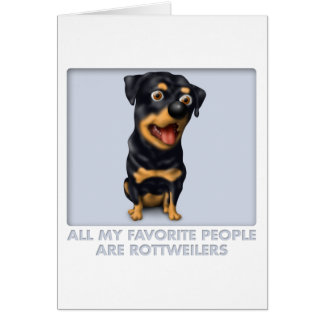 Favorito de Rottweiler Tarjetón