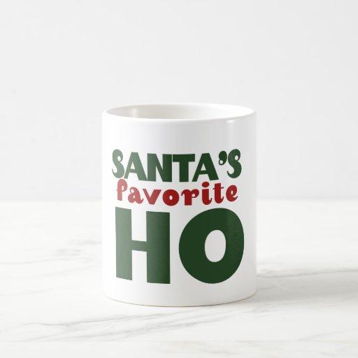 Favorito de Santas HO Taza Básica Blanca