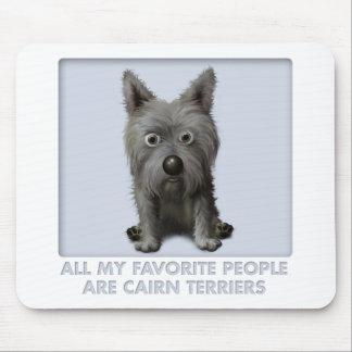 Favorito de Terrier de mojón 2 Alfombrilla De Ratones