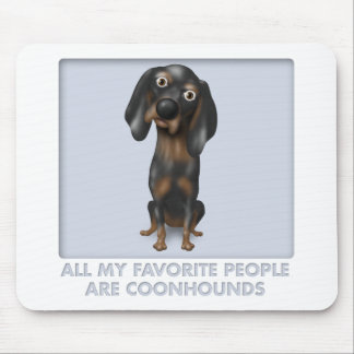 Favorito del Coonhound (negro y moreno) Tapetes De Ratón