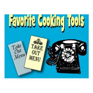 favorito que cocina las herramientas postales