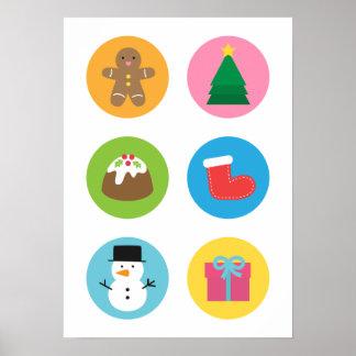 Favoritos de las Felices Navidad coloridas y linda Impresiones