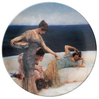 Favoritos de plata de Lawrence Alma-Tadema Plato De Cerámica