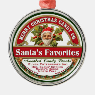 Favoritos del caramelo del ornamento de Santa del Ornaments Para Arbol De Navidad