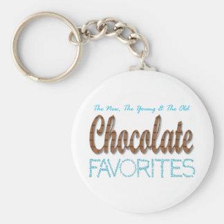 Favoritos del chocolate llavero redondo tipo pin