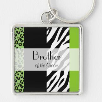 Favors - Animal Print, Zebra, Leopard - Green Keychain