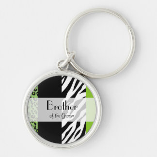 Favors - Animal Print, Zebra, Leopard - Green Keychain