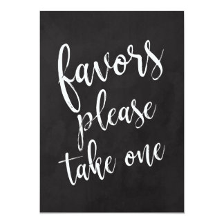 Favors Please Take One Affordable Chalkboard Sign Card