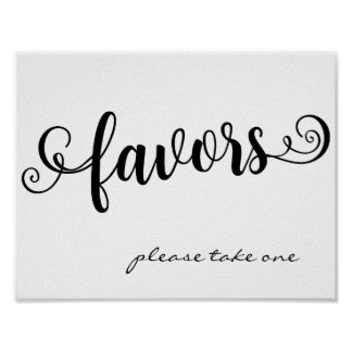 Favors Please Take One Wedding Custom Table Sign