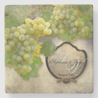 Favors Rustic Winery Art Outdoor Vineyard Wedding Stone Coaster