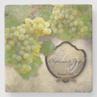 Favors Rustic Winery Art Outdoor Vineyard Wedding Stone Coaster