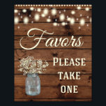 "Favors Sign, Wedding Sign, Wedding Decor Photo<br><div class=""desc"">Great Rustic wedding sign for your special day!</div>"