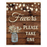Favors Sign, Wedding Sign, Wedding Decor Photo<br><div class='desc'>Great Rustic wedding sign for your special day!</div>